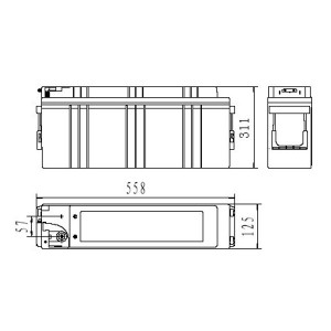 Inbatt FTA12-150 Batterie 12V 150Ah Long Life Frontterminal Akku