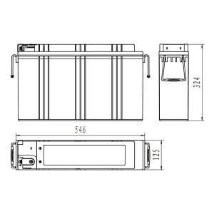 Inbatt FTA12-190 Batterie 12V 190Ah Long Life Frontterminal Akku