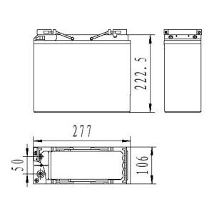 Inbatt FTB12-55 Batterie 12V 55Ah Long Life Frontterminal Akku
