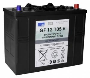 Akku für Batterie-Kehrmaschine Tennant S9 - Sonnenschein GF12105V 12V 105Ah Blei-Gel Zyklenfest