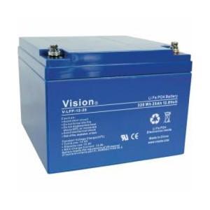 VISION LFP1225 LiFePo4  Lithium Akku - 12V 25Ah