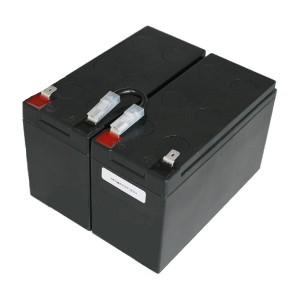 Batteriekit für APC USV RBC109 komplett vormontiert inclusive Einbauwanne, Verbinder, Stecker