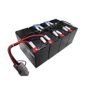 Batteriekit für APC USV RBC25 Smart-UPS SU1400RMXL3U, SU1400RMXLI3U, SU1400RMXLIB3U komplett vormontiert