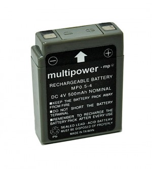 Multipower MP0.5-4 4V 0,5Ah Blei-Akku / AGM Batterie