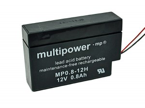 Multipower MP0,8-12H 12V 0,8Ah Blei-Akku / AGM Batterie