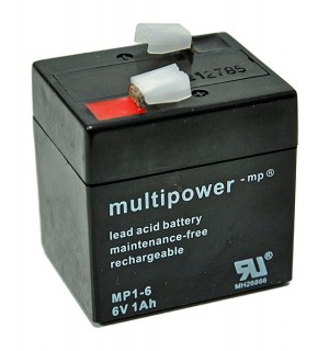 Multipower MP1-6 6V 1Ah Blei-Akku / AGM Batterie
