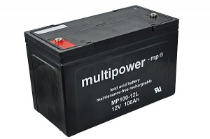 Multipower MP100-12L 12V 100Ah Blei-Akku / AGM Batterie Longlife