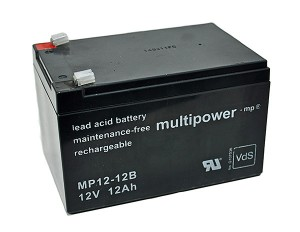 Multipower MP12-12B VdS 12V 12Ah Blei-Akku / AGM Batterie