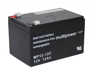 Multipower MP12-12C 12V 12Ah Blei-Akku / AGM Batterie Zyklenfest