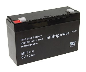 Multipower MP12-6 6V 12Ah Blei-Akku / AGM Batterie