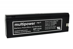 Multipower MP1220 12V 2Ah Blei-Akku / AGM Batterie