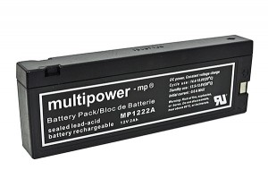 Multipower MP1222A 12V 2Ah Blei-Akku / AGM Batterie