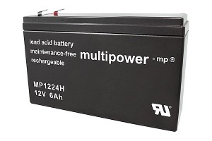 Multipower MP1224H 12V 6Ah Blei-Akku / AGM Batterie Hochstrom