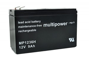 Multipower MP1236H 12V 9Ah Blei-Akku / AGM Batterie Hochstrom