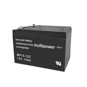 Multipower MP15-12C 12V 15Ah Blei-Akku / AGM Batterie Zyklenfest