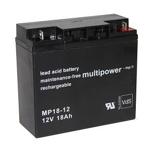 Akkusatz für DELL DL1400I USV Anlage - 2 x Multipower 12V 18Ah Akku mit VdS Zulassung