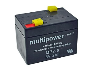 Multipower MP2-6 6V 2Ah Blei-Akku / AGM Batterie