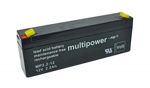 Multipower MP2,2-12 VdS 12V 2,2Ah Blei-Akku / AGM Batterie