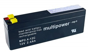 Multipower MP2,4-12C 12V 2,4Ah Blei-Akku / AGM Batterie Zyklenfest