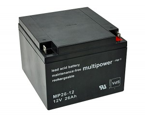 Multipower MP26-12 VdS 12V 26Ah Blei-Akku / AGM Batterie