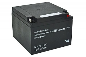 Multipower MP26-12C 12V 26Ah Blei-Akku / AGM Batterie Zyklenfest