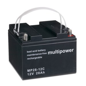 Multipower MP28-12C 12V 28Ah Blei-Akku / AGM Batterie Zyklenfest
