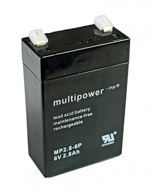 Multipower MP2.8-6P 6V 2,8Ah Blei-Akku / AGM Batterie