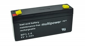Multipower MP3,3-6 6V 3,3Ah Blei-Akku / AGM Batterie