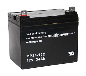 Multipower MP34-12C 12V 34Ah Blei-Akku / AGM Batterie Zyklenfest