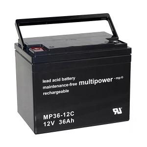 Multipower MP36-12C 12V 36Ah Blei-Akku / AGM Batterie Zyklenfest