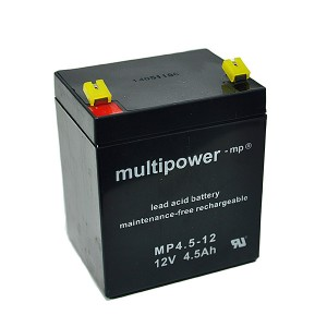 Multipower MP4,5-12 12V 4,5Ah Blei-Akku / AGM Batterie