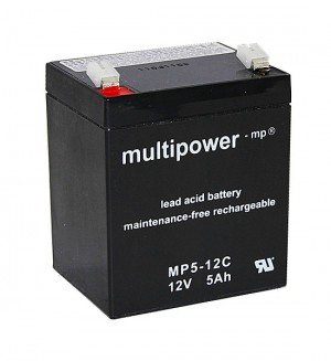 Multipower MP5-12C 12V 5Ah Blei-Akku / AGM Batterie Zyklenfest