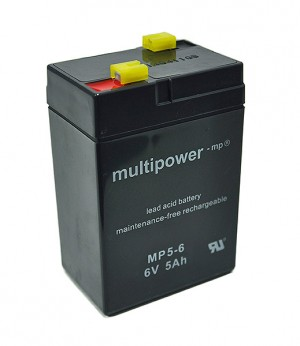 Multipower MP5-6 6V 5Ah Blei-Akku / AGM Batterie