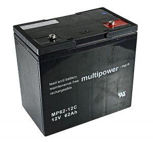 Multipower MP62-12C 12V 62Ah Blei-Akku / AGM Batterie Zyklenfest