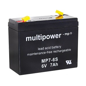 Multipower MP7-6S 6V 7Ah Blei-Akku / AGM Batterie