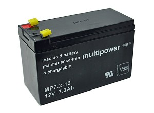 Multipower MP7.2-12 VdS 12V 7,2Ah Blei-Akku / AGM Batterie