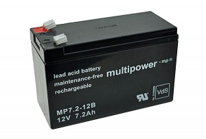 Multipower MP7.2-12B VdS 12V 7,2Ah Blei-Akku / AGM Batterie