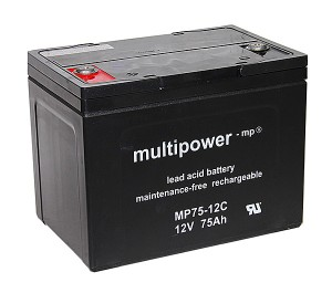 Multipower MP75-12C 12V 75Ah Blei-Akku / AGM Batterie Zyklenfest