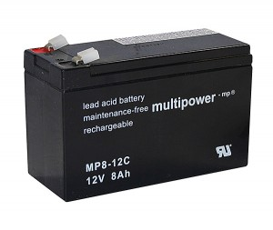 Multipower MP8-12C 12V 8Ah Blei-Akku / AGM Batterie Zyklenfest