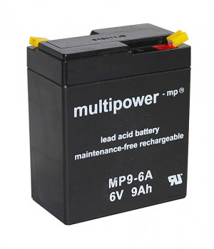 Multipower MP9-6A 6V 9Ah Blei-Akku / AGM Batterie