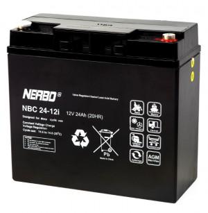 Nerbo NBC 24-12i - 12V 24Ah VRLA-AGM Akku Batterie Zyklentyp