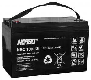 Nerbo NBC 100-12i - 12V 100Ah VRLA-AGM Akku Batterie Zyklentyp