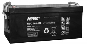 Nerbo NBC 260-12i - 12V 260Ah VRLA-AGM Akku Batterie Zyklentyp