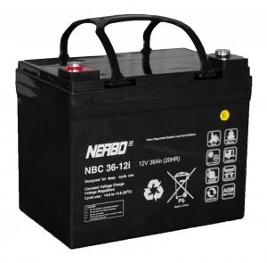 Nerbo NBC 36-12i - 12V 36Ah VRLA-AGM Akku Batterie Zyklentyp