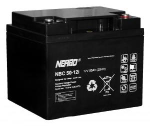 Nerbo NBC 50-12i - 12V 50Ah VRLA-AGM Akku Batterie Zyklentyp
