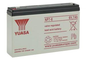 Yuasa NP7-6 6V 7Ah Blei-Akku / AGM Batterie