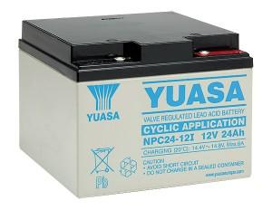 Yuasa NPC24-12 12V 24Ah Blei-Akku / AGM Batterie Zyklenfest