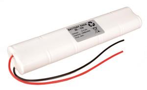 Akkupack Notlicht / Notbeleuchtung 12V / 1500mAh (1,5Ah) SC L5x2 Stab mit Kabel