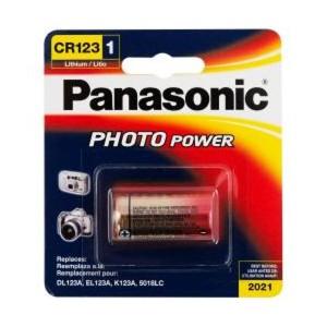 Panasonic Lithium Rundzelle CR123A 3,0V 1400mAh