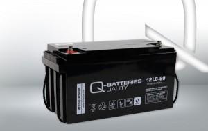 Q-Batteries 12LC-80 12V 82Ah Blei-Akku / AGM Batterie Zyklentyp